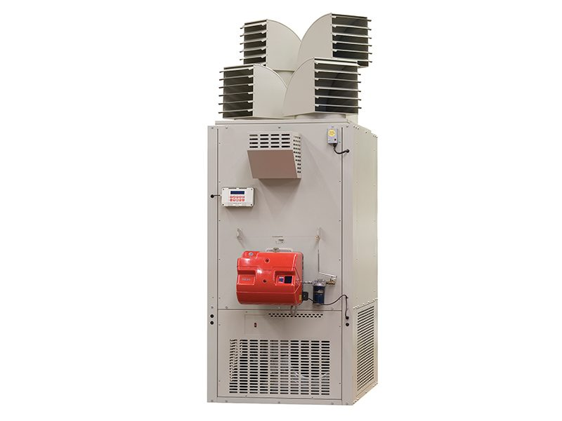 warm air heating cabinet