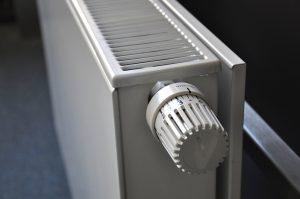 boiler heating through radiator